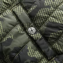 boys casual thermal outerwear winter school uniform jackets with snap pockets kids camo blue green