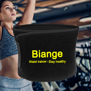 Biange Waist Trimmer for Women & Men Sweat Waist Trainer Slimming Belt, Stomach Wraps for Weight Loss, Neoprene Ab Belt Low Back and Lumbar Support 17