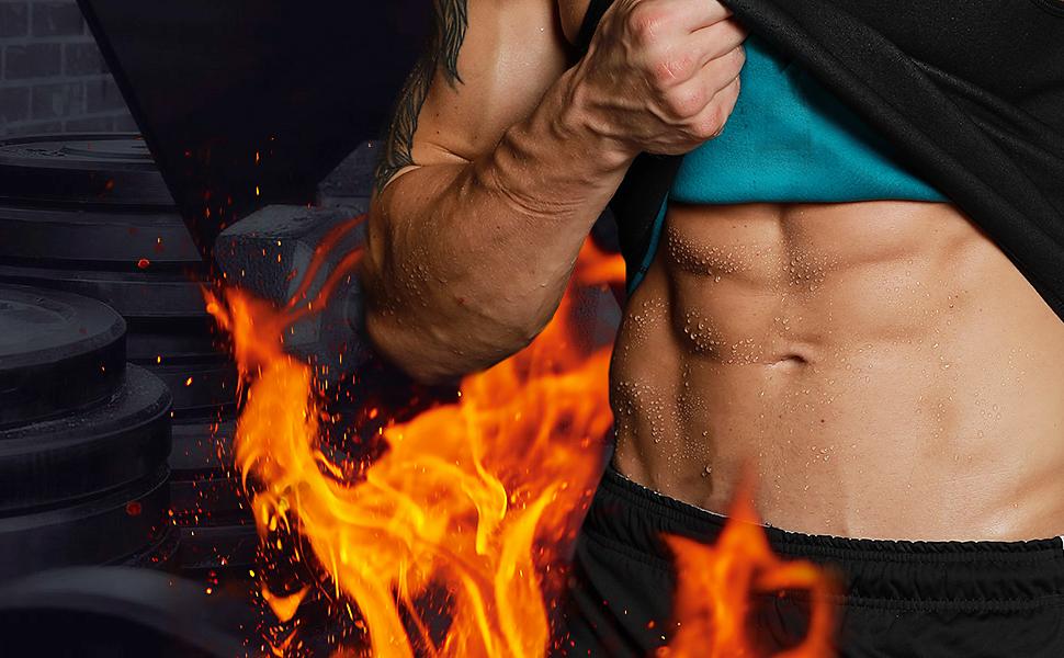 Men Neoprene Waist Trainer Sauna Sweat Suit Workout Vest Tank Top Tummy Control Shapewear Slimming Body Shaper 12