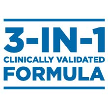 3-in-1 clinically validated formula