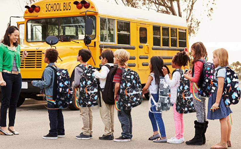 school bag colourful children school backpack