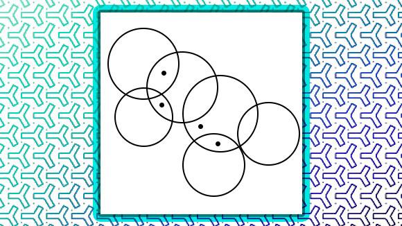 How many circles contain black dots?