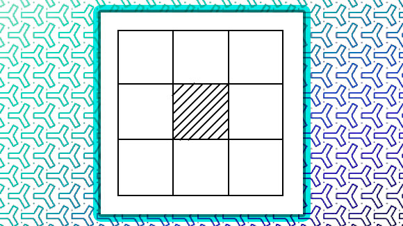 Place 10, 20, 30, 40, 50, 60, 70 and 80 so that each side adds up to 150