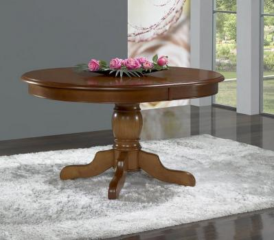 table ovale 135x110 pied central