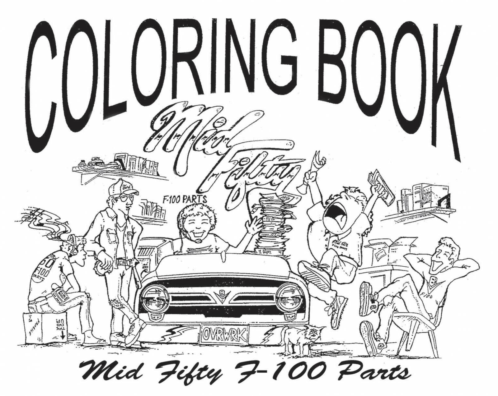 56 Ford F 100 Mid Fifty Coloring Book