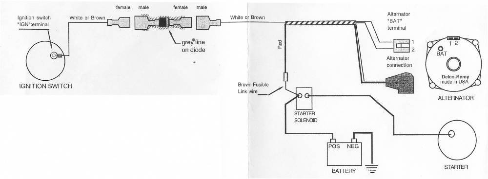 1 Wire Alternator Wiring Diagram. Wiring. Wiring Diagram And ...