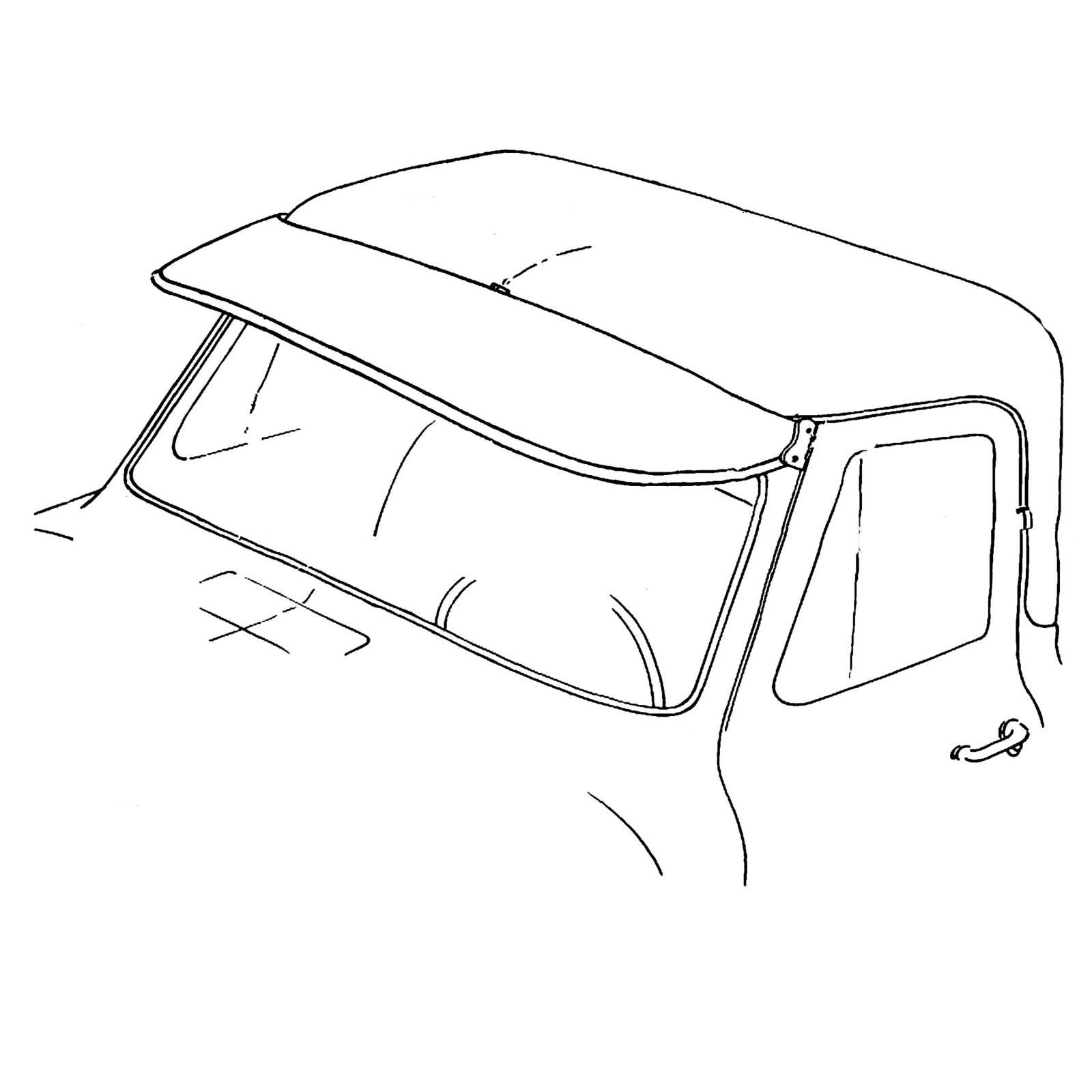 56 Ford F 100 Outside Sunvisor Stainless Trim