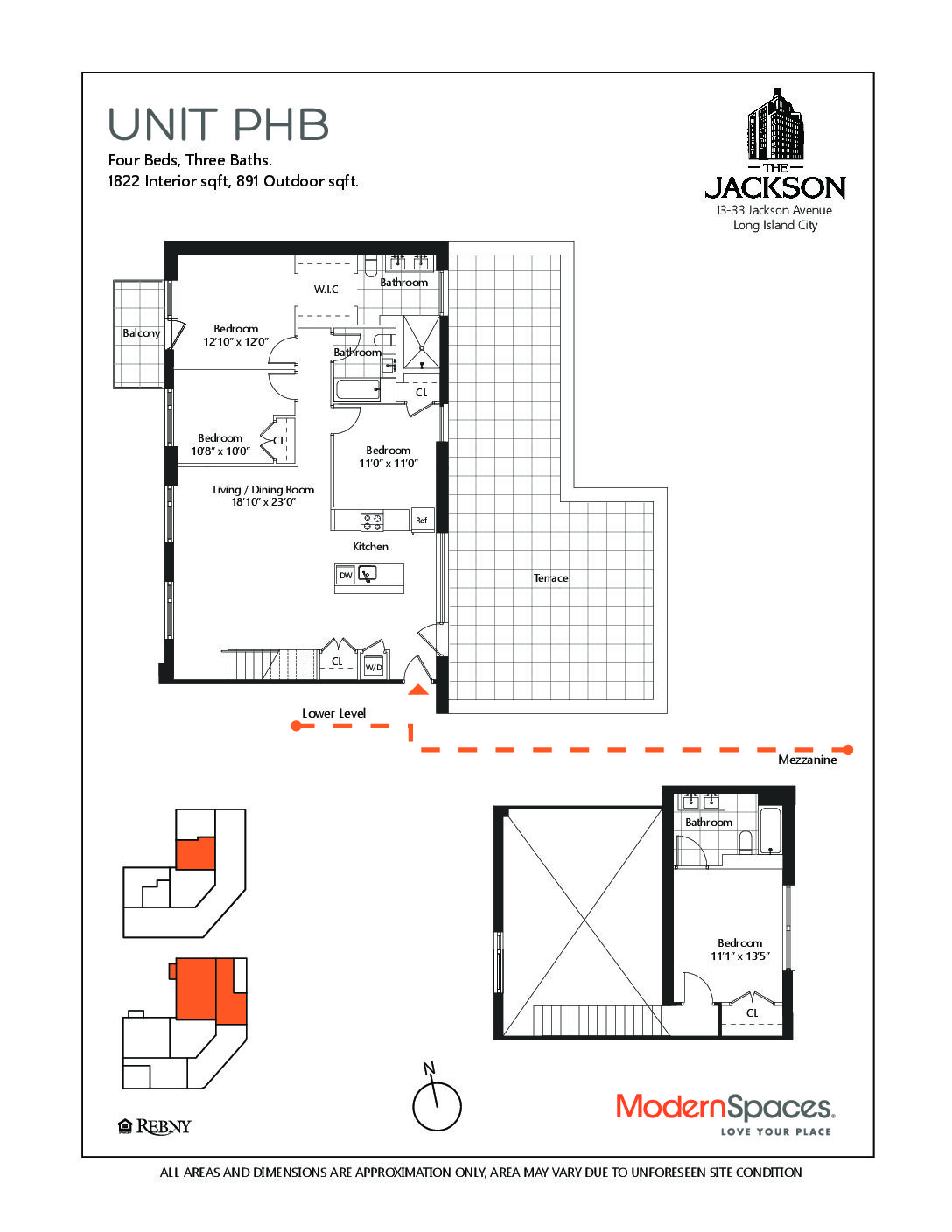 11 51 47th Avenue Ph At The Jackson Is A 4 Bedroom Condo