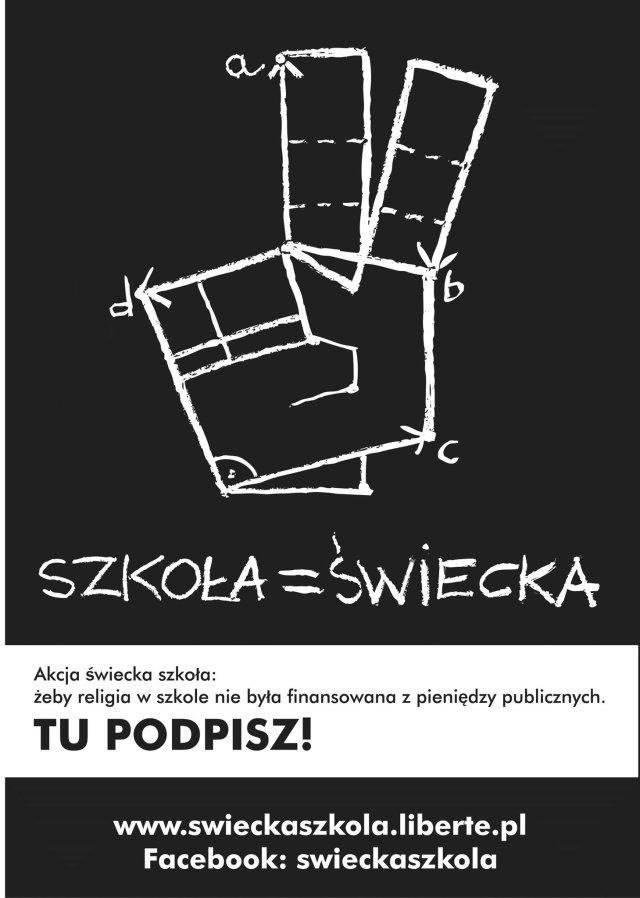 """""""Świecka szkoła"""" – obywatelska inicjatywa ustawodawcza  o zniesieniu finansowania religii z budżetu"""