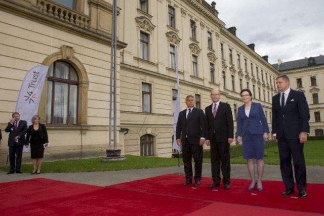 Spotkanie premierów Grupy Wyszehradzkiej w Pradze