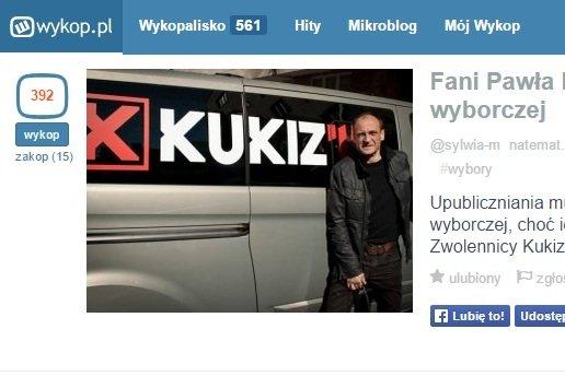 Na fali popularności w Internecie Paweł Kukiz nie będzie miał problemu, żeby wejść do Sejmu.