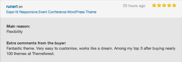 Conference WP theme review