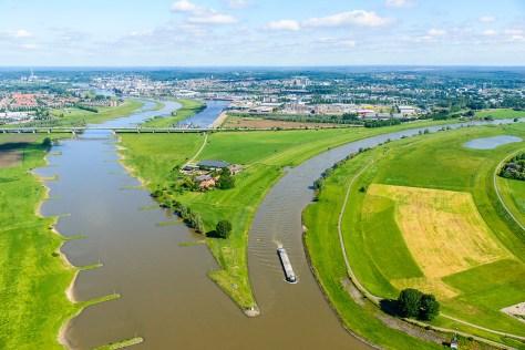 Luchtfoto Nederrijn IJsselkop | Siebe Swart