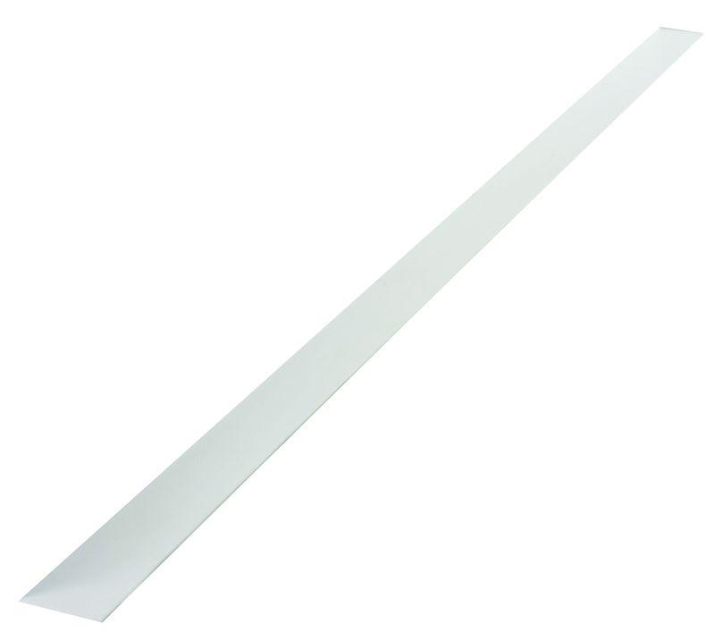 profil plat pvc rigide blanc en 2600 x