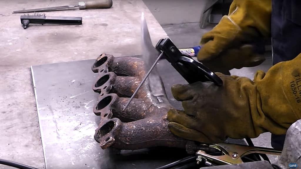 how to repair cast iron stick welding