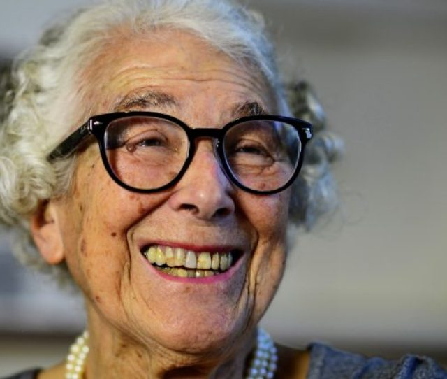 British Childrens Writer And Illustrator Judith Kerr Chats As She Sits In Her Kitchen At Her