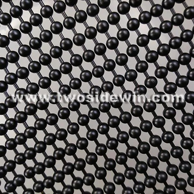 china black coating metal bead curtain manufacturers and factory customized products wholesale sorter