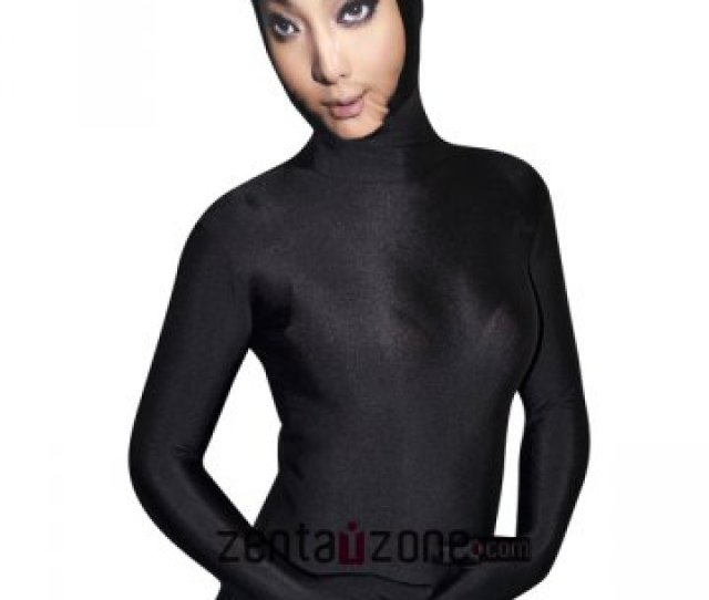 Face Zentai Black Lycra Zentai Bodysuit With Sexy Girl Face  Buy Zentai Spandex