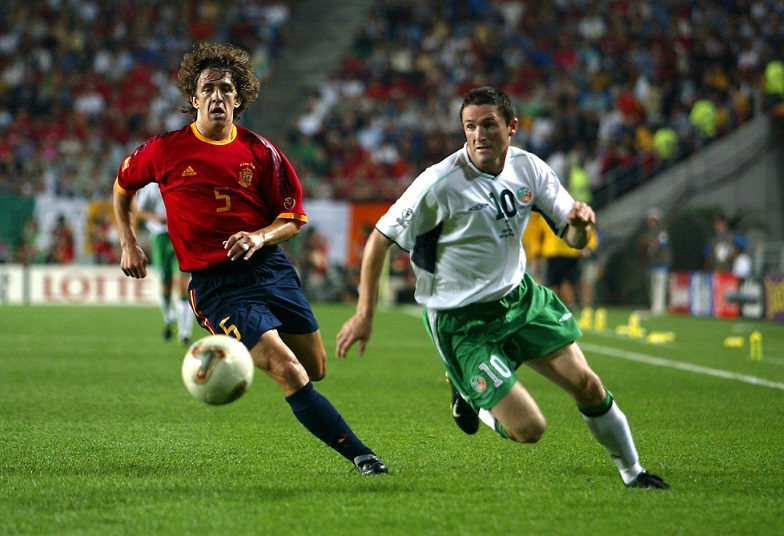 Puyol and Robbie Keane 16/6/2002 DIGITAL