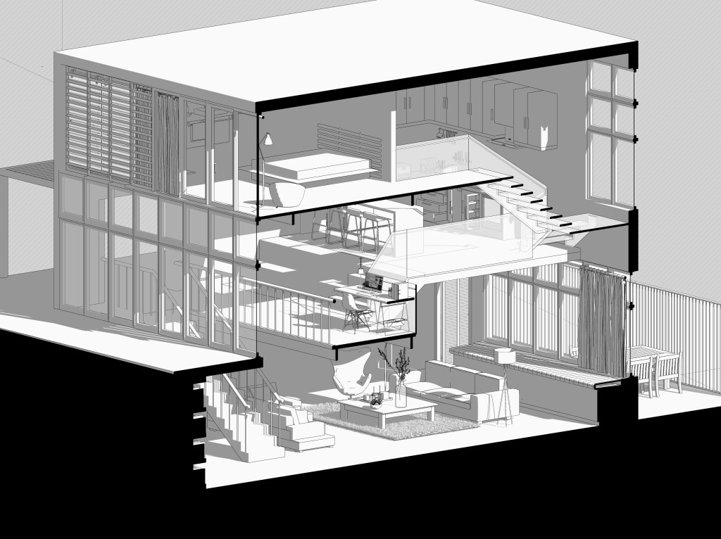 Dine amyc micro housing apartment section