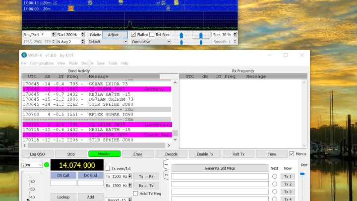 FT8 – You dont even need an antenna to receive it….