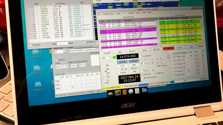Amateur Radio software on Chromebook.