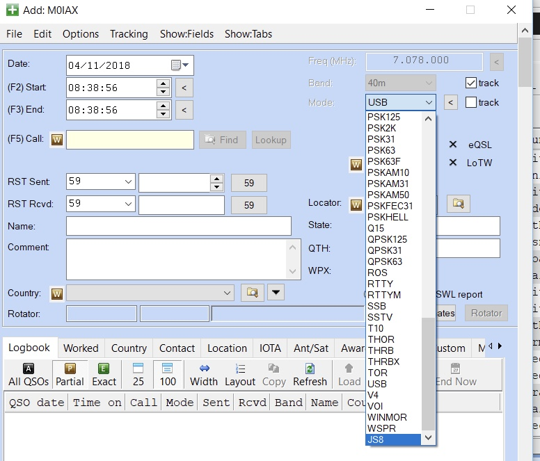 Tutorial: How to add a new Mode to Ham Radio Deluxe | M0IAX