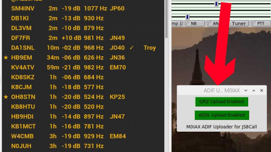 Realtime ADIF uploader for JS8Call