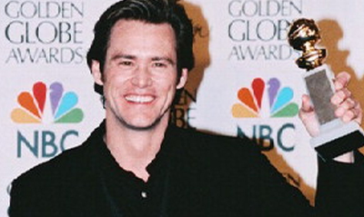 Carrey is very good at doing fake smiles...