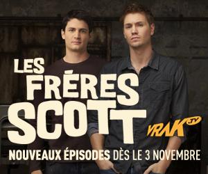 Les frères Scott - Nouveaux épisodes dès le 3 novembre - VRAK.TV