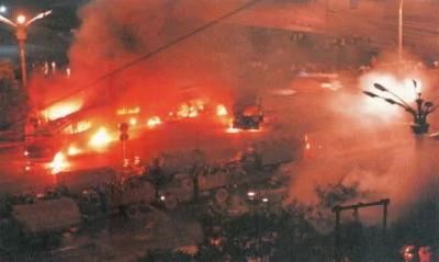 Image result for 1989年6月4日 戒严部队向天安门进军