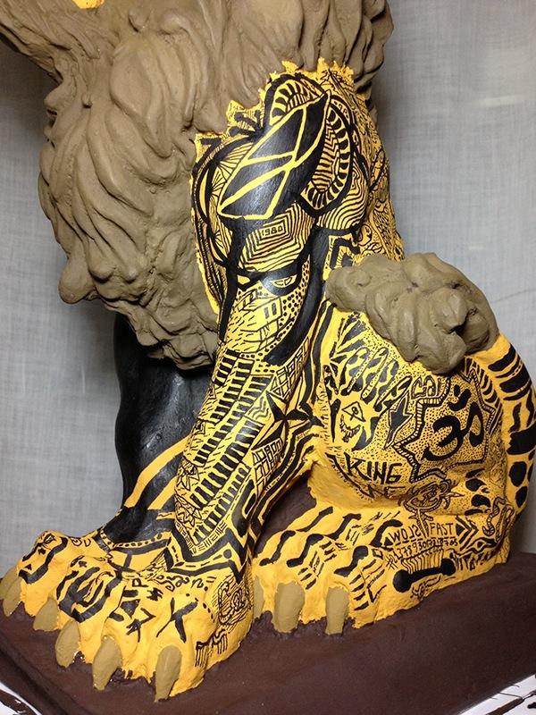 lion left side detail