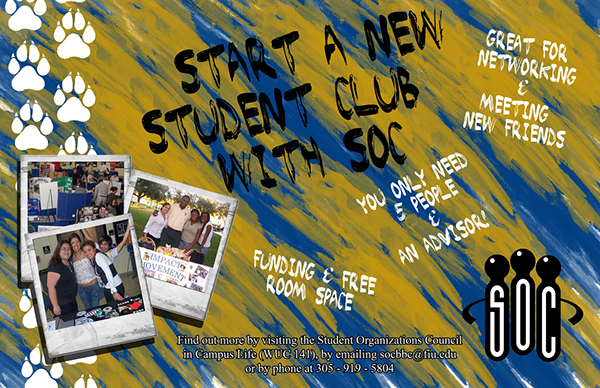 Flyers: FIU Student Organizations Council on Behance