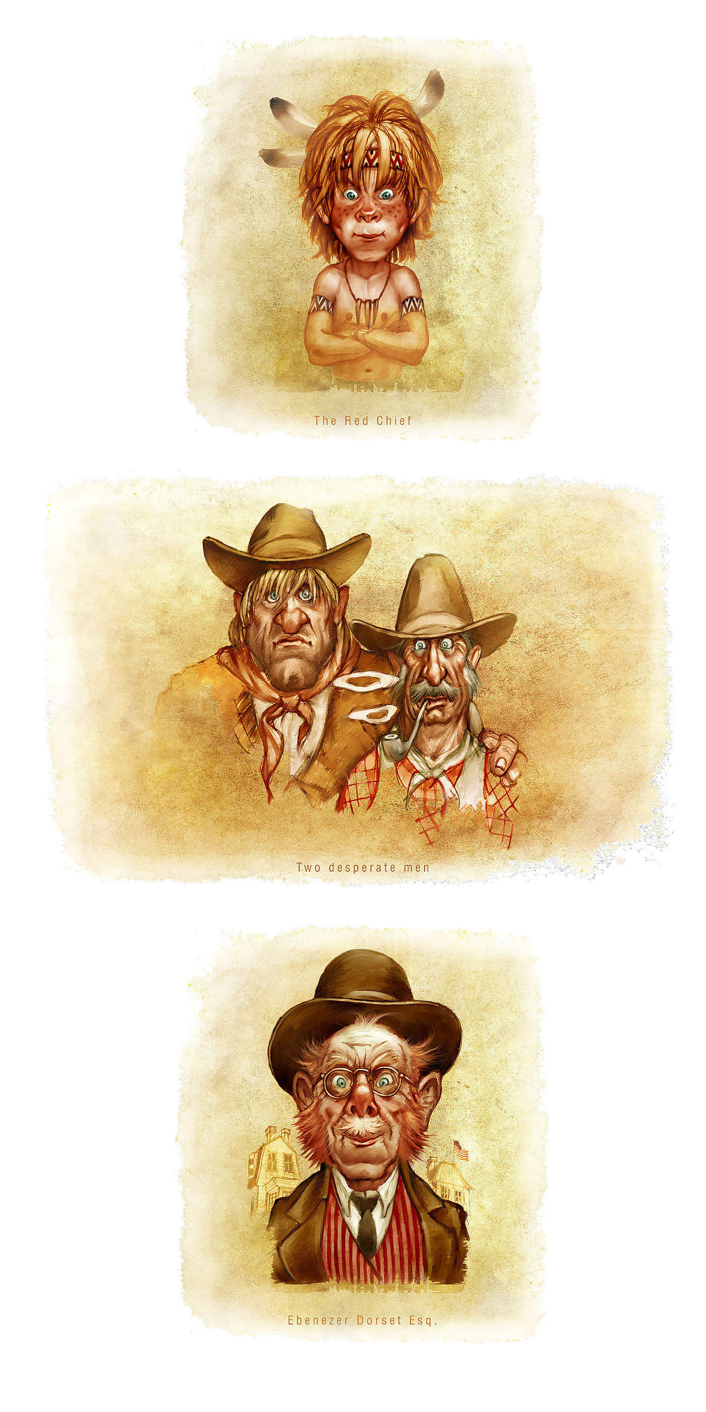 The Ransom Of Red Chief O Henry Characters01 On Behance