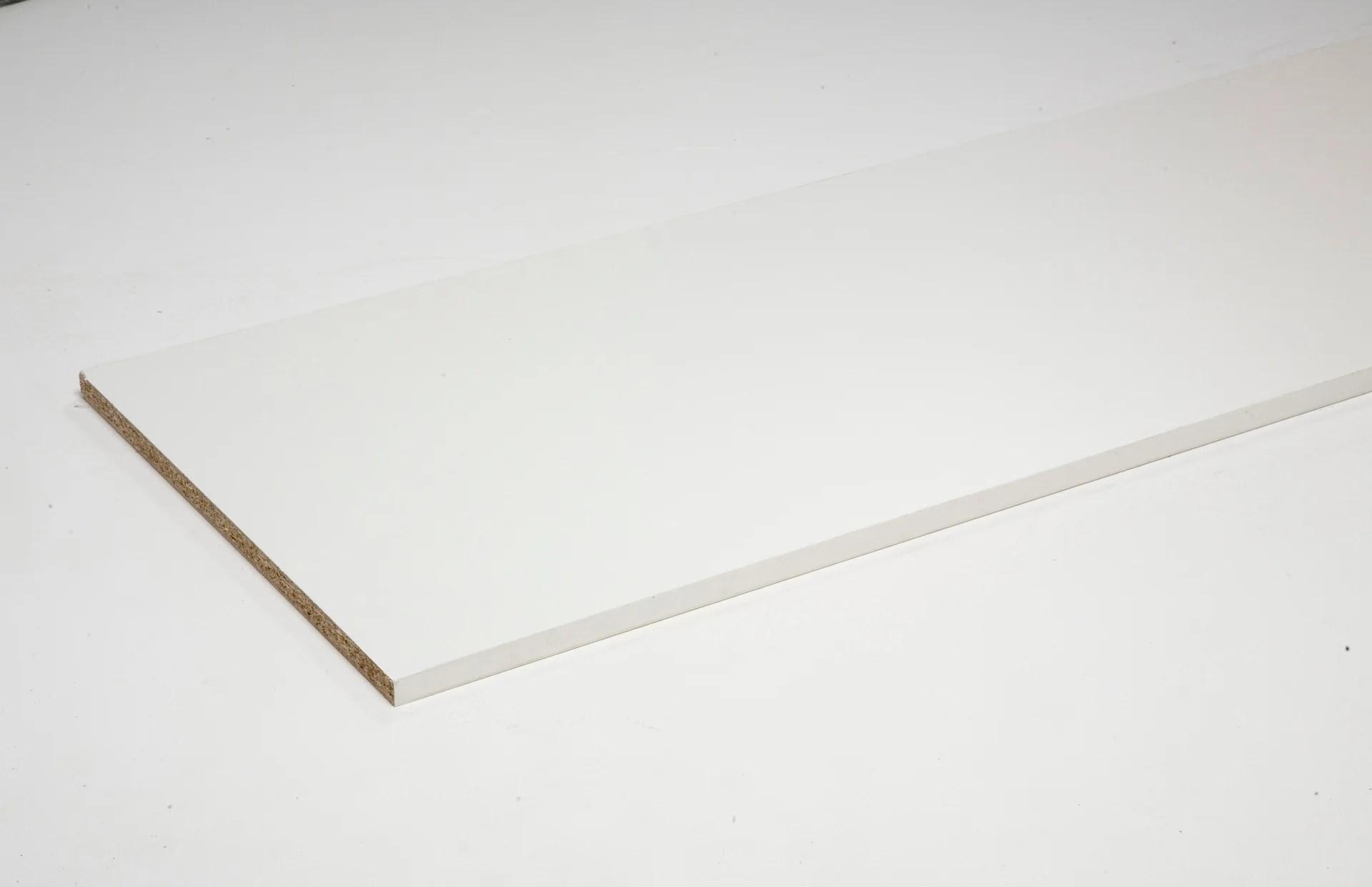tablette melamine super blanc spaceo l 250 x l 50 cm x ep 18 mm