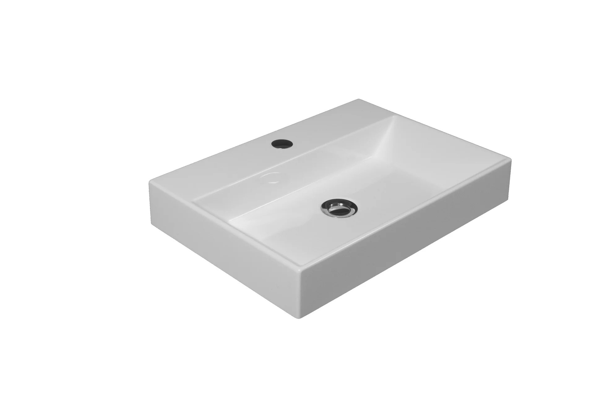 Vasque A Poser Resine De Synthese L 50 X P 36 Cm Blanc Solo Leroy Merlin