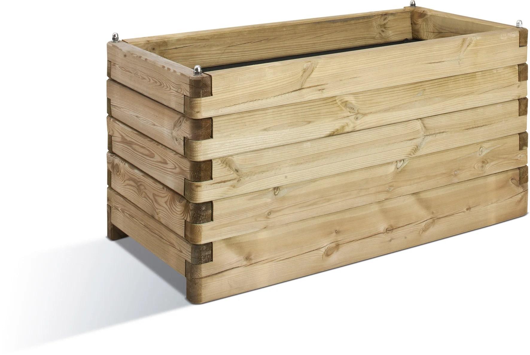 jardiniere en bois de 1m x 1m leroy