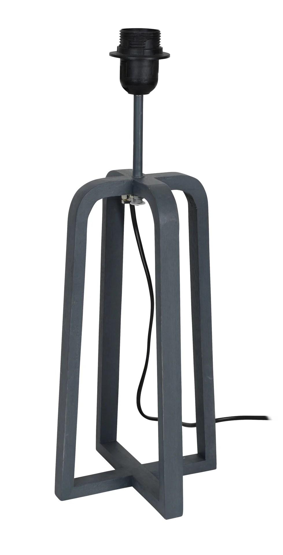 pied de lampe scandinave bois gris 46 cm