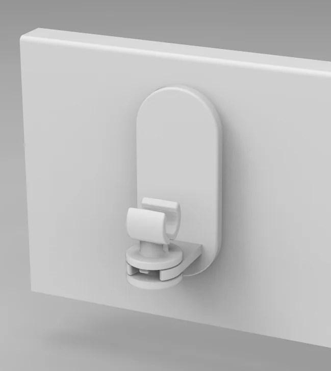 lot de 2 supports sans percage barre de vitrage petite fenetre 10 mm blanc mat