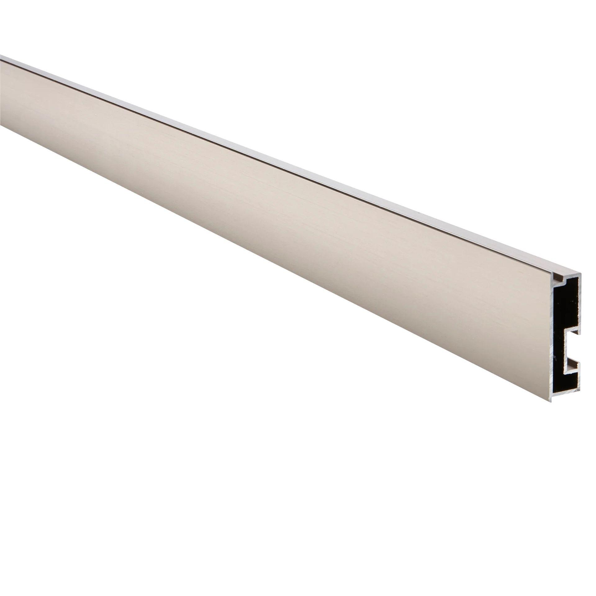 profil pour plan de travail pure aluminium l 202 x l 4 7 cm