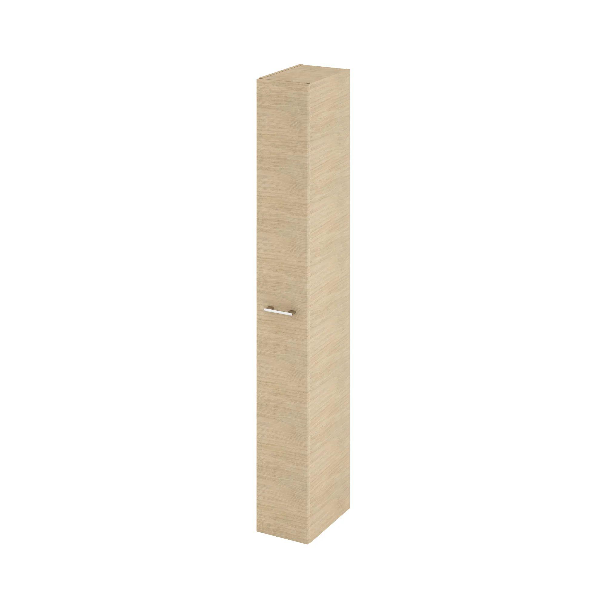colonne de salle de bains l 22 x h 173 x p 34 8 cm imitation chene naturel rem