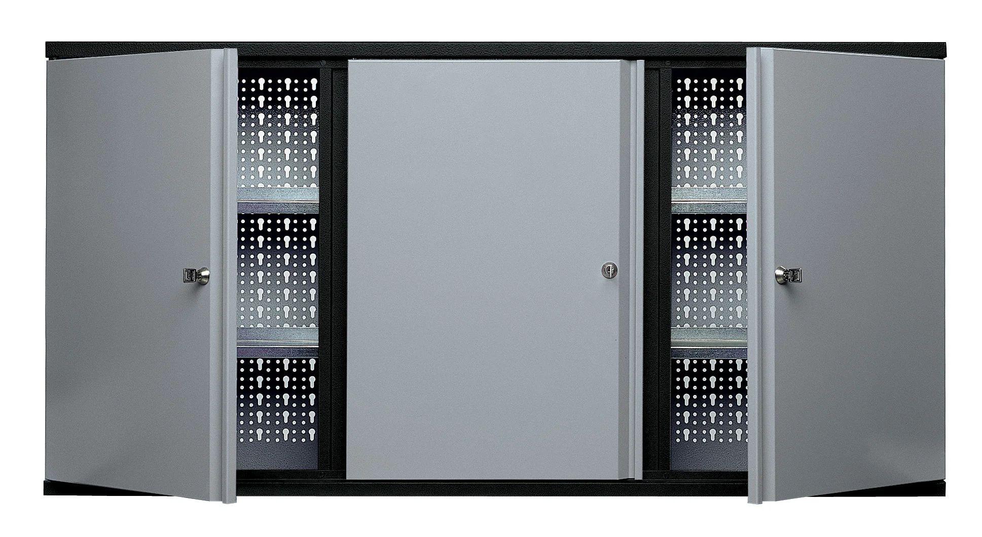 armoire de rangement murale 4 etageres kupper l 120 x h 60 x p 20 cm