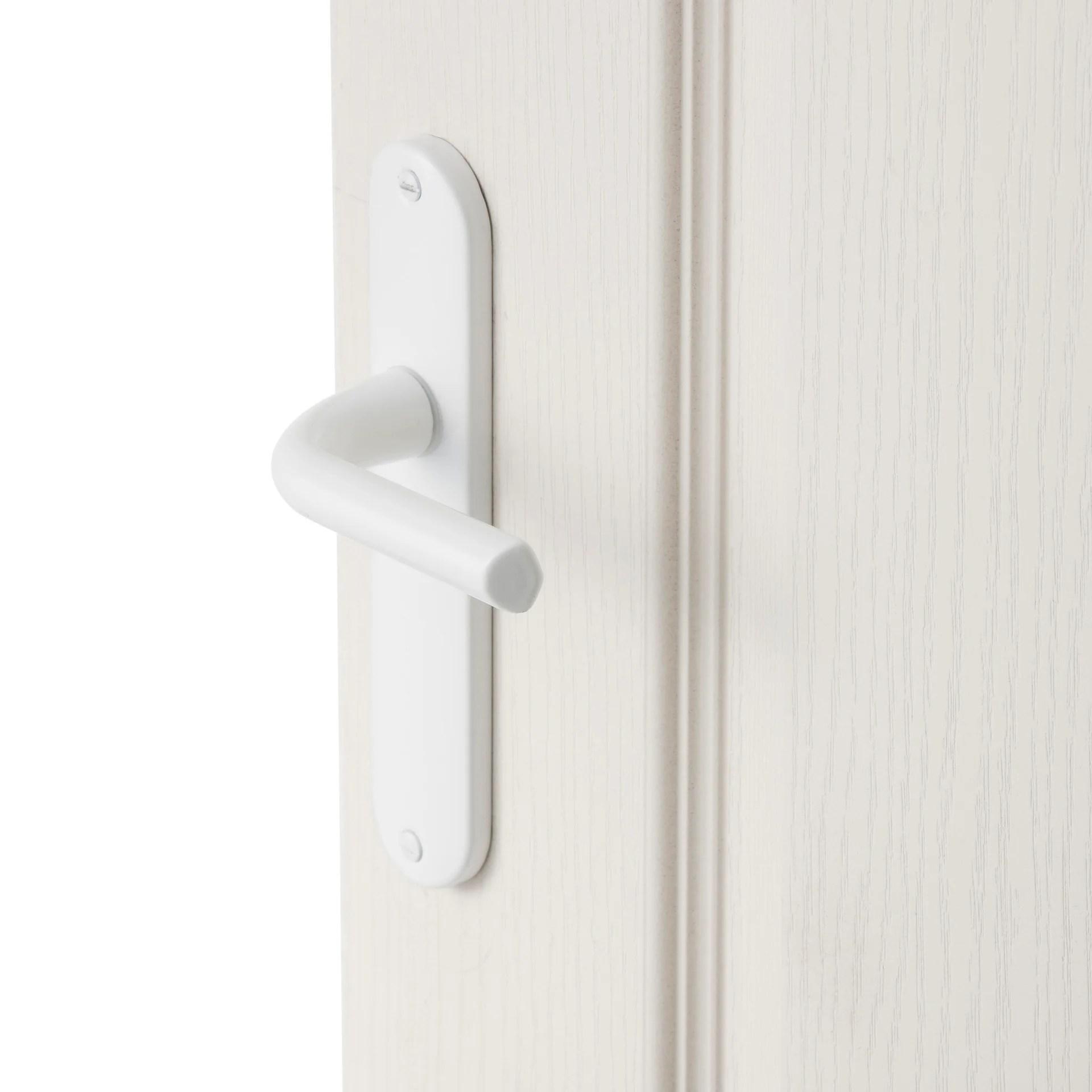 2 poignees de porte etoile sans trou inspire aluminium entraxe 165 mm
