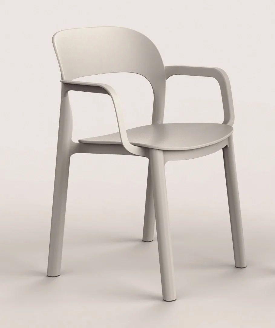 fauteuil de jardin en resine injectee ona blanc