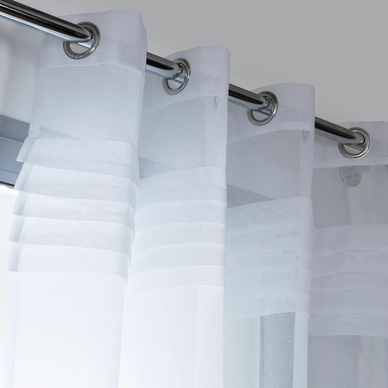 voilage transparent lady blanc l 140 x h 250 cm