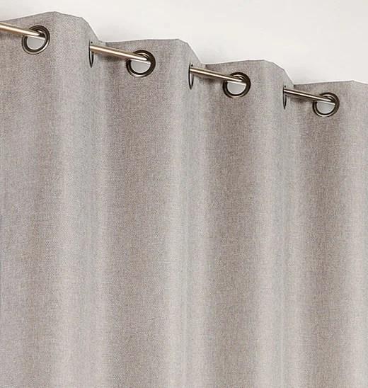 rideau occultant calypso gris clair l 140 x h 240 cm