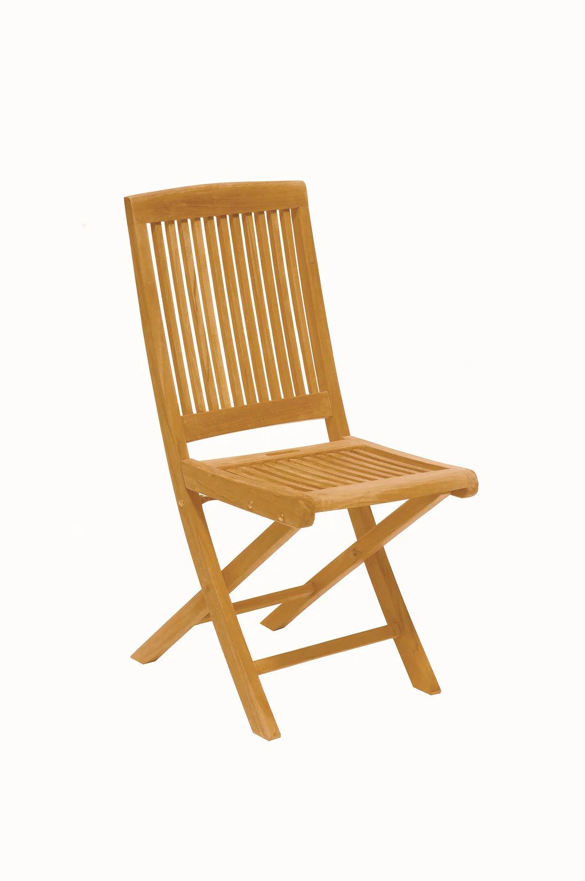 lot de 2 chaises de jardin en bois azur naturelle