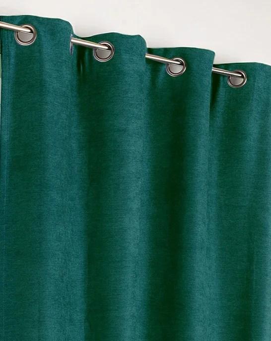 rideau occultant thermique alaska vert canard l 140 x h 260 cm