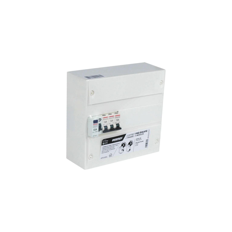 Tableau Electrique Equipe Non Precable Debflex 1 Rangee 13 Modules Leroy Merlin