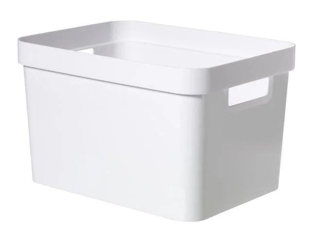 Bac Curver Plastique Blanc L 26 6 X P 35 6 X H 21 8 Cm Cm 17 L Leroy Merlin